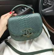 Chanel messenger in green snakeskin,Handbags, replicas wholesale