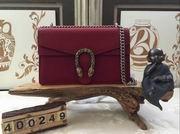 Gucci Dionysus red leather shoulder bag