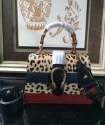 Gucci Dionysus leopard print top handle bag leopard print calf hair