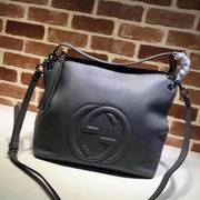 Gucci Embossed GG leather hobo gray