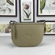 Gucci GG leather shoulder bag khaki