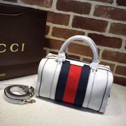 Gucci leather top handle bag white leather