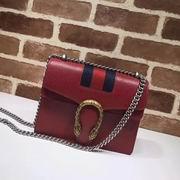 Gucci Dionysus calf leather shoulder bag red
