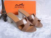 Hermes Patent leather Oasis sandal  khaki,Women Shoes, replicas wholesale