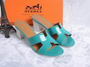 Hermes Patent leather Oasis sandal green ,Shoes, replicas wholesale