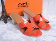 Hermes Patent leather Oasis sandal orange ,Women Shoes, replicas wholesale