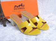 Hermes Patent leather Oasis sandal yellow ,Women Shoes, replicas wholesale