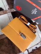 HERMES EPSOM VERROU SHOULDER BAG in yellow,Handbags,Hermes replicas wholesale