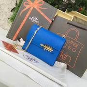 Hermes mini Chevre verrou shoulder Bag in blue with gold metal or silver metal ,Handbags,Hermes replicas wholesale