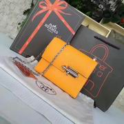 Hermes mini Chevre verrou shoulder Bag in orange with gold metal or silver metal,Handbags,Hermes replicas wholesale