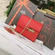 Hermes mini Chevre verrou shoulder Bag in red with gold metal or silver metal,Handbags,Hermes replicas wholesale