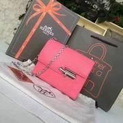 Hermes mini Chevre verrou shoulder Bag in Rose with gold metal or silver metal ,Handbags,Hermes replicas wholesale