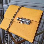 HERMES MINI EPSOM VERROU SHOULDER BAG in yellow with silver metal ,Handbags,Hermes replicas wholesale