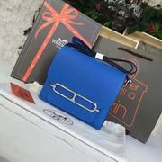 Hermes small roulis Bags in BLUE with silver metal ,Handbags,Hermes replicas wholesale