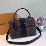 Louis Vuitton Damier Ebene and Taurillon leather BOND STREET Noir