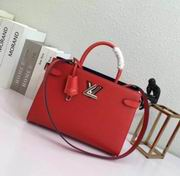 Louis Vuitton Epi grained and Cuir Ecume grained cowhide leather  Coquelicot TWIST TOTE