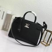 Louis Vuitton Epi grained and Cuir Ecume grained cowhide leather  Noir TWIST TOTE
