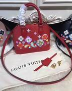 Louis Vuitton Printed and embossed Epi leather with leather red ALMA BB ,Handbags,Louis Vuitton 7 stars replicas wholesale