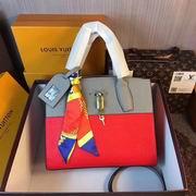 Louis Vuitton CITY STEAMER PM Red Crocodilian leather