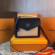 Louis Vuitton MY LOCKME Black & Apricot ,Handbags,Louis Vuitton 5 stars replicas wholesale