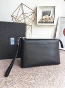Prada leather clutch FOR MAN,Handbags,Prada replicas wholesale