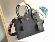 Prada new style black & pink calf leather  paradigme bag ,Handbags,Prada replicas wholesale
