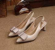Salvatore Ferragamo  Sandal With Vara Bow SHOES apricot hight 5.5cm,Women Shoes,Salvatore Ferragamo replicas wholesale