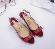 Salvatore Ferragamo  Sandal With Vara Bow SHOES wine,Women Shoes,Salvatore Ferragamo replicas wholesale
