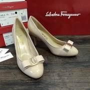 Salvatore Ferragamo Carla Leather Bow Pumps apricot high 7.5cm,Women Shoes,Salvatore Ferragamo replicas wholesale
