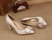 Salvatore Ferragamo ORNAMENT BOW PUMP SHOES apricot Hight 10cm,Shoes,Salvatore Ferragamo replicas wholesale