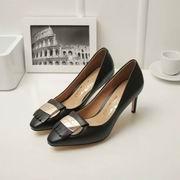 Salvatore Ferragamo Vara Heel Pumps apricot Hight 7cm,Women Shoes,Salvatore Ferragamo replicas wholesale