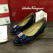 Salvatore Ferragamo Vara Low Heel Pumps blue,Women Shoes,Salvatore Ferragamo replicas wholesale