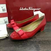 Salvatore Ferragamo Vara Low Heel Pumps red,Women Shoes,Salvatore Ferragamo replicas wholesale