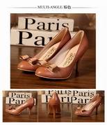 Salvatore Ferragamo Carla  Bow Pumps  brown hight 7.5cm,Women Shoes,Salvatore Ferragamo replicas wholesale