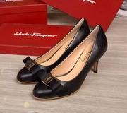 Salvatore Ferragamo Carla  Bow Pumps black hight 7.5cm,Women Shoes,Salvatore Ferragamo replicas wholesale