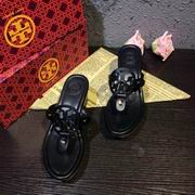 Tory Burch MILLER LOW HEEL SANDAL, METALLIC LEATHER BLACK ,Shoes, replicas wholesale