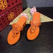 Tory Burch MILLER LOW HEEL SANDAL, METALLIC LEATHER ORANGE,Shoes, replicas wholesale