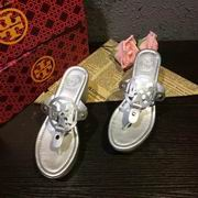 Tory Burch MILLER LOW HEEL SANDAL, METALLIC LEATHER SILVER ,Shoes, replicas wholesale