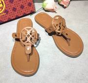 Tory Burch MILLER SANDAL, METALLIC LEATHER Brown ,Shoes, replicas wholesale