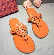 Tory Burch MILLER SANDAL, METALLIC LEATHER Orange ,Shoes, replicas wholesale