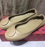 TORY BURCH MINNIE TRAVEL BALLET WITH LOGO APRICOT,Shoes, replicas wholesale