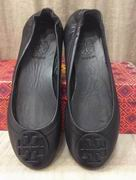 TORY BURCH MINNIE TRAVEL BALLET WITH LOGO BLACK,Shoes, replicas wholesale