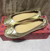 TORY BURCH MINNIE TRAVEL BALLET WITH LOGO GOLD,Shoes, replicas wholesale