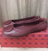 TORY BURCH MINNIE TRAVEL BALLET WITH LOGO WINE,Shoes, replicas wholesale