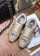 Valentino fur sneaker gold ,Women Shoes,Valentino replicas wholesale