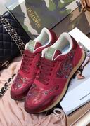 Valentino fur sneaker red ,Women Shoes,Valentino replicas wholesale