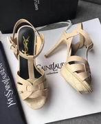 YSL CLASSIC TRIBUTE SANDAL IN STONE LEATHER ,Shoes, replicas wholesale