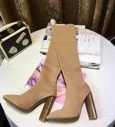YeezySeason fur long boots apricot High 10.5cm,Women Shoes,Yeezy Season replicas wholesale