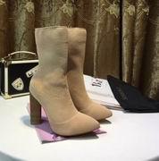 YeezySeason Knitted Ankle Boots apricot High 10.5cm,Women Shoes,Yeezy Season replicas wholesale