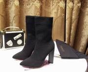 YeezySeason Knitted Ankle Boots black High 10.5cm,Women Shoes,Yeezy Season replicas wholesale